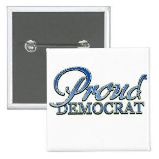 Classy Proud Democrat 2 Inch Square Button