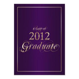Classy Purple and Gold 2012 Graduate Invitation