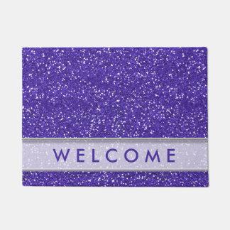 Classy Purple Glitter Look Welcome Doormat