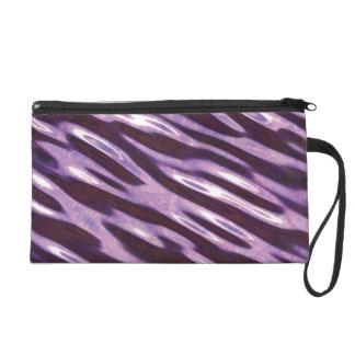 Classy Purple Marble Pattern Wristlet
