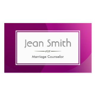 Classy Purple Marriage Counselling Business Card