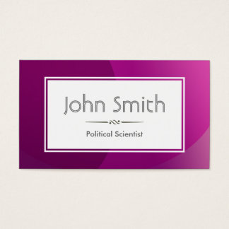 Classy Purple Political Scientist Business Card