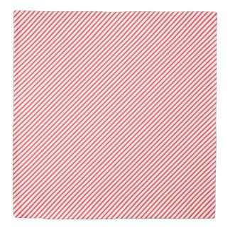 Classy Red Diagonal Stripes Duvet Cover