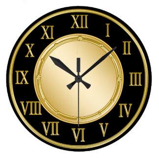 Classy Roman Numeral Kitchen Wall Clocks