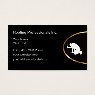 Classy Roofing Services Business Card