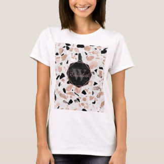 Classy rose gold vintage marble abstract terrazzo T-Shirt