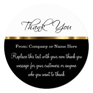 Classy Round Thank You Cards With Envelopes