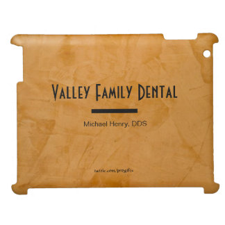 Classy Rustic Orange Dental Practice Designer iPad Case