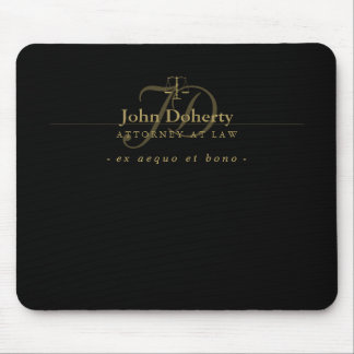 Classy Scales of Justice | Gold Mouse Pad