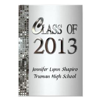 Classy Silver 2013 Graduation Invitations