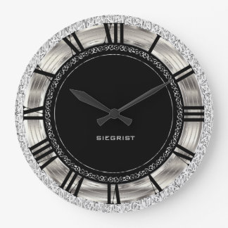 Classy Silver Design Wallclock