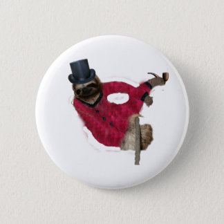 classy sloth 2 inch round button