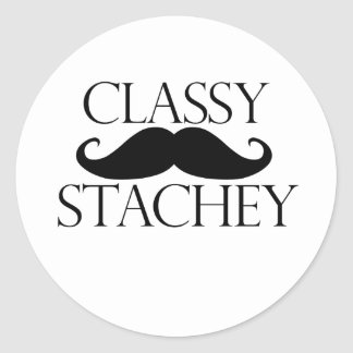Classy Stache Mustache Sticker