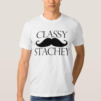 Classy Stache Mustache Tee Shirt