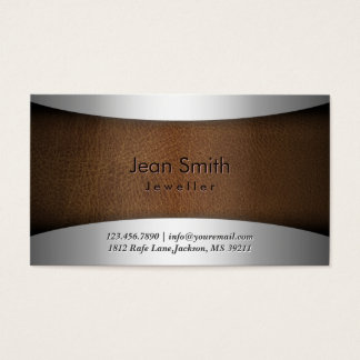 Classy Steel & Leather Jewellery Business Card