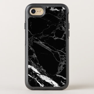 Classy Stone Black Marble Texture OtterBox Symmetry iPhone 7 Case