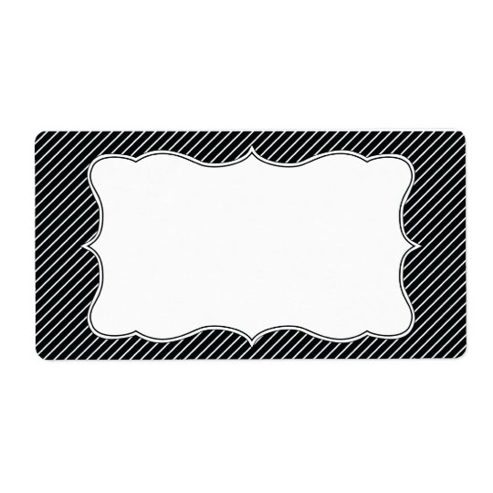 Classy Striped Address Label