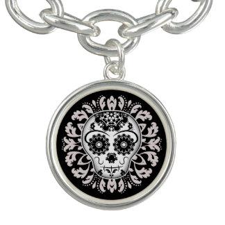 Classy sugar skull bracelet