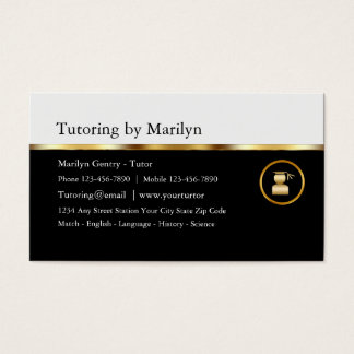 Classy Teacher Tutoring Business Cards