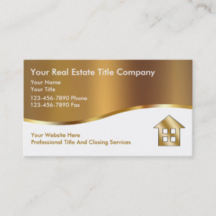 Real estate sales business cards business card printing zazzle ca classy title company business cards reheart Image collections