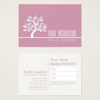 Classy Tree Yoga Instructor Life Coach Appointment Business Card