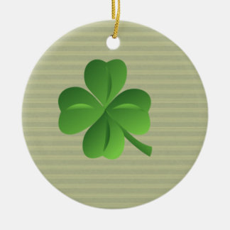 Classy Trendy  Irish Lucky Shamrock Ceramic Ornament