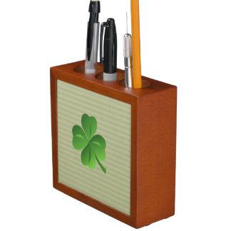Classy Trendy  Irish Lucky Shamrock Desk Organizer