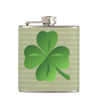Classy Trendy  Irish Lucky Shamrock Flask