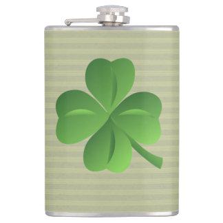 Classy Trendy  Irish Lucky Shamrock Hip Flask