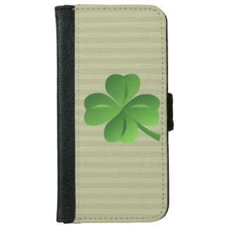 Classy Trendy  Irish Lucky Shamrock iPhone 6 Wallet Case