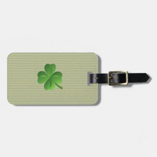 Classy Trendy  Irish Lucky Shamrock Luggage Tag