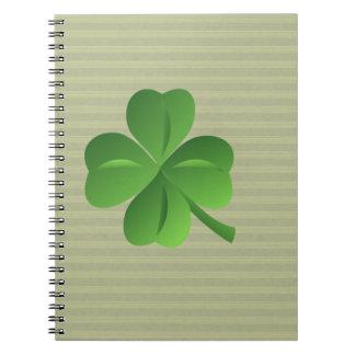 Classy Trendy  Irish Lucky Shamrock Notebook