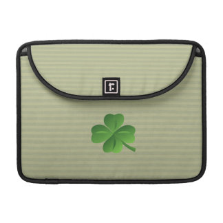 Classy Trendy  Irish Lucky Shamrock Sleeve For MacBook Pro