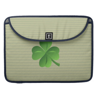 Classy Trendy  Irish Lucky Shamrock Sleeve For MacBooks
