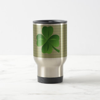 Classy Trendy  Irish Lucky Shamrock Travel Mug