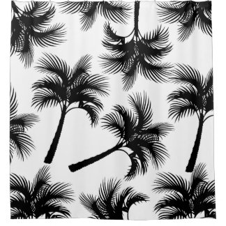 Classy Tropical Black Palm Trees & White