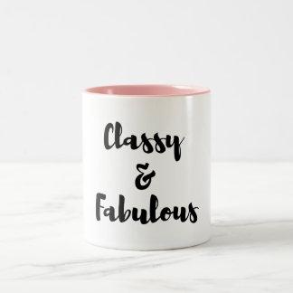 classy Two-Tone coffee mug