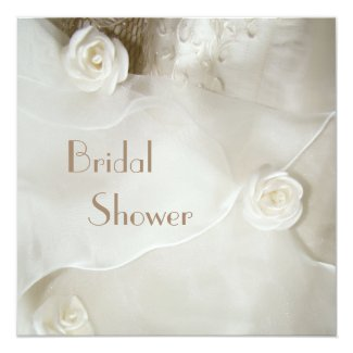 Classy Vintage Wedding Gown Bridal Shower Invitation