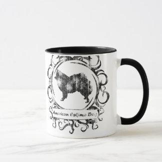 Classy Weathered American Eskimo Dog Mug