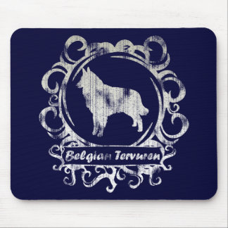 Classy Weathered Belgian Tervuren Mouse Pads