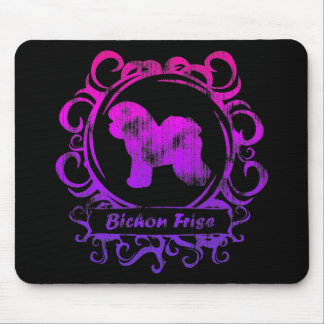 Classy Weathered Bichon Frise Mouse Pad