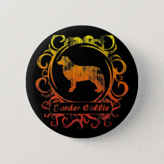 Classy Weathered Border Collie 2 Inch Round Button