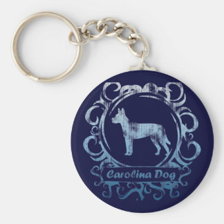 Classy Weathered Carolina Dog Keychain