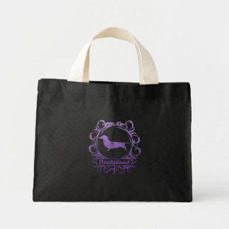 Classy Weathered Dachshund Mini Tote Bag