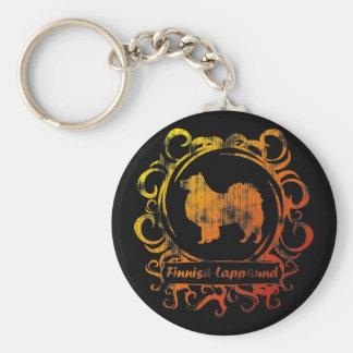 Classy Weathered Finnish Lapphund Keychain