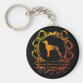 Classy Weathered German Shorthaired Pointer Basic Round Button Keychain