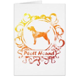 Classy Weathered Plott Hound Card
