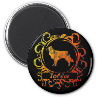 Classy Weathered Toller Magnet