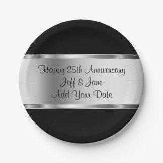 Classy Wedding Anniversary Paper Plate