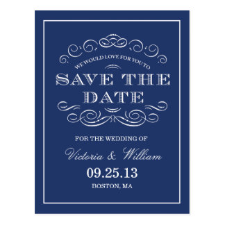 CLASSY WEDDING  | SAVE THE DATE ANNOUNCEMENT POSTCARD